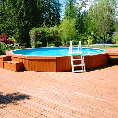 Good Decks and Looks for Surrounding Above Ground Pools