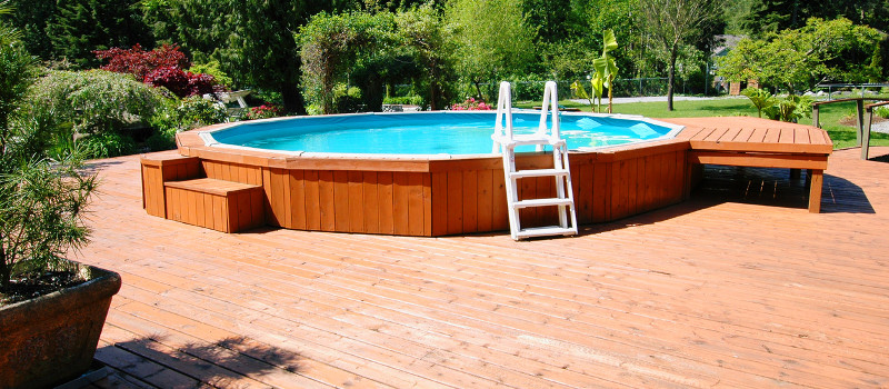 Good decks and looks for surrounding above ground pools - Nice above ground pools ...