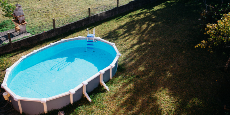 Above-ground pools are less expensive