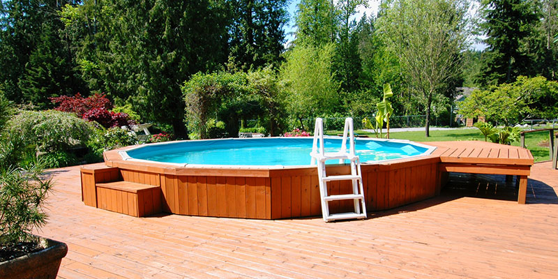 above-ground pools can require fewer chemicals to stay clean